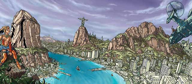 Entre deux eaux est le premier supplément pour Tigres Volants. C'est surtout l'écran de jeu avec un peu de viande autour.