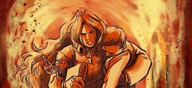Kyoshi tenta de refermer la porte du garage derrière elle, le souffle ardent des explosions ne lui en laissa pas le temps : elle vola en arrière, protégeant son visage de sa combinaison renforcée.
