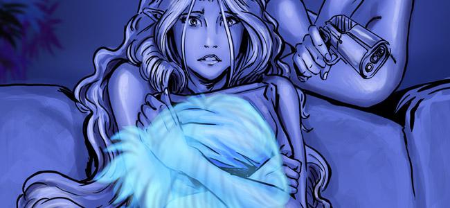 Kyoshi appliqua la pommade sur le dos et les épaules de Daeithil avec un soin qui frôlait l'obsession. L'Eylwen reconnut dans le soin-massage-caresse une tentative maladroite, mais prometteuse, d'exciter certains de ses méridiens de plaisir.