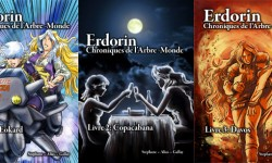 Erdorin, couvertures tomes 1-3