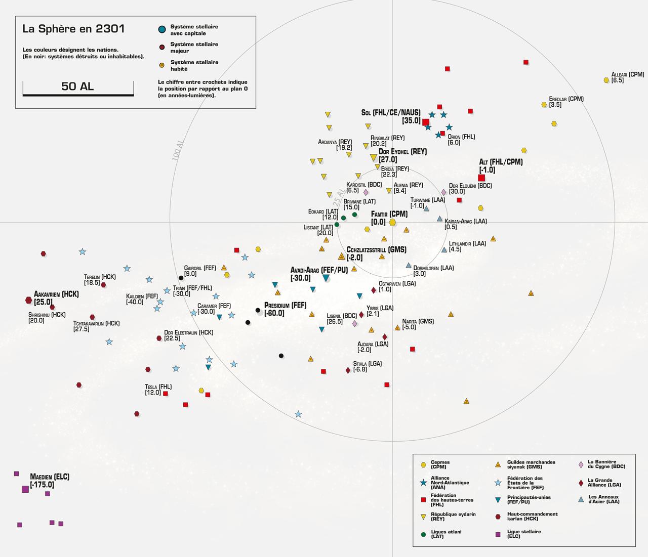 La carte de la Sphère