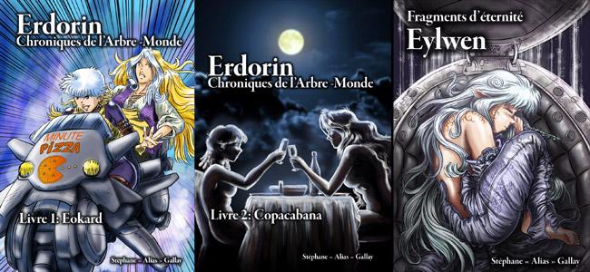 Erdorin, couverture Livre 1+2 et Eylwen