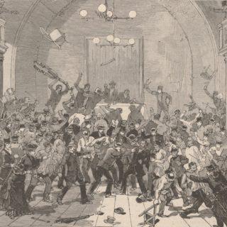 Bagarre de la salle Rivoli (Le Monde illustré, 1883-03-17)